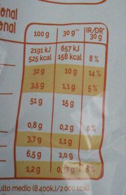 Grefusa patatas - Nutrition facts