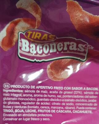 Tiras Baconeras - Ingredients
