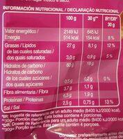 Tiras Baconeras - Nutrition facts - es