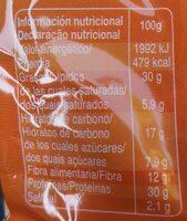 Pipa de calabaza - Información nutricional