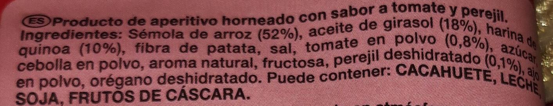 Snack Quinoa tomate y perejil - Ingrédients - es