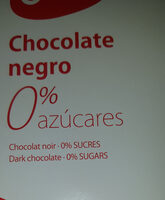 Chocolate negro sin azucar - Producte