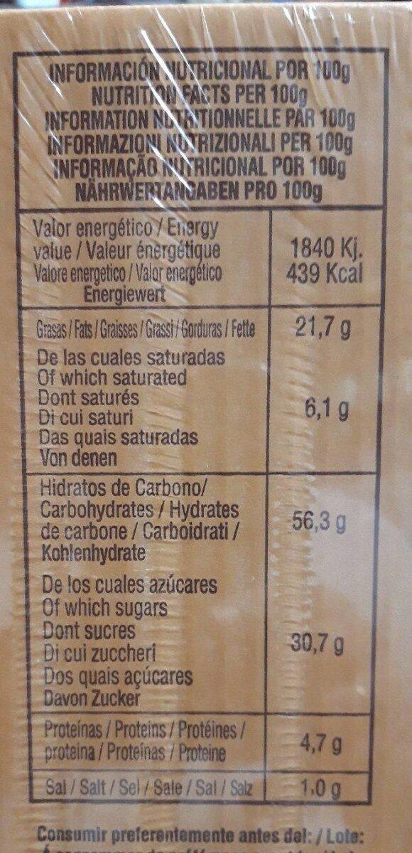 Valencianas - Informació nutricional - es