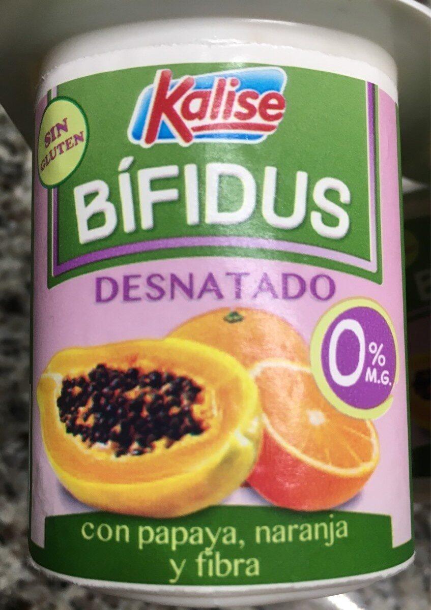 Bifidus desnatado con papaya, naranja y fibra - Producto