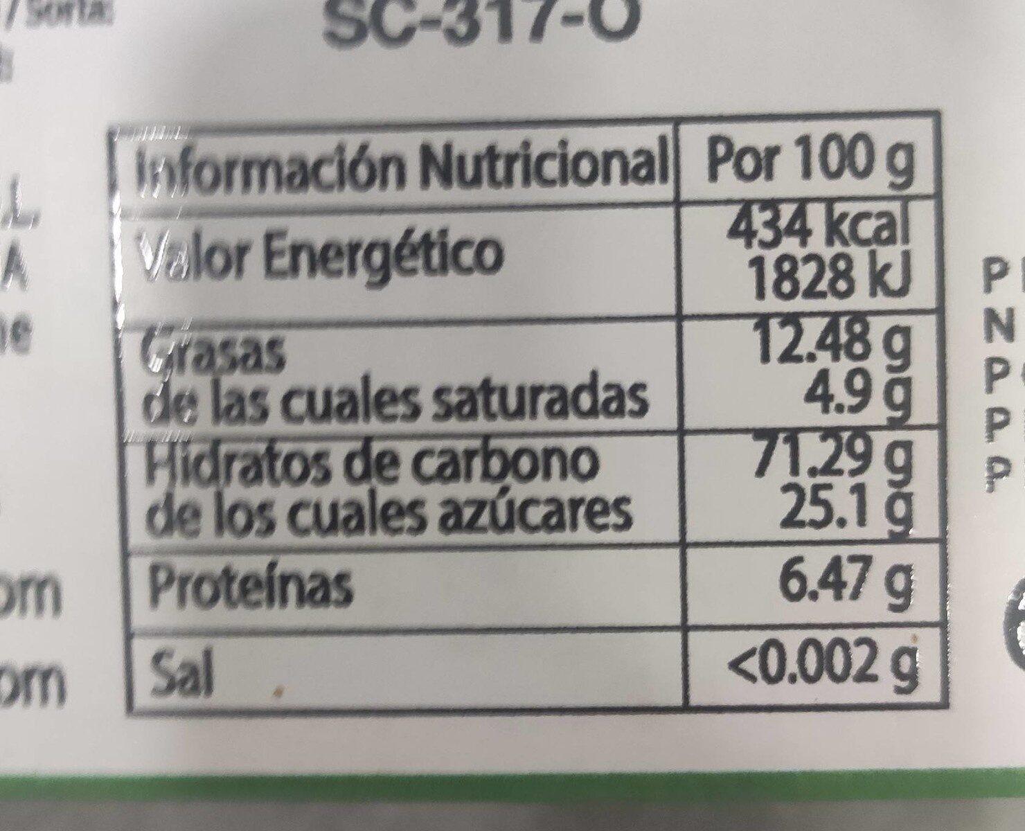 Bizcochos NOEL - Nutrition facts - es