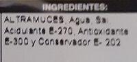 Altramuces - Ingredients - es
