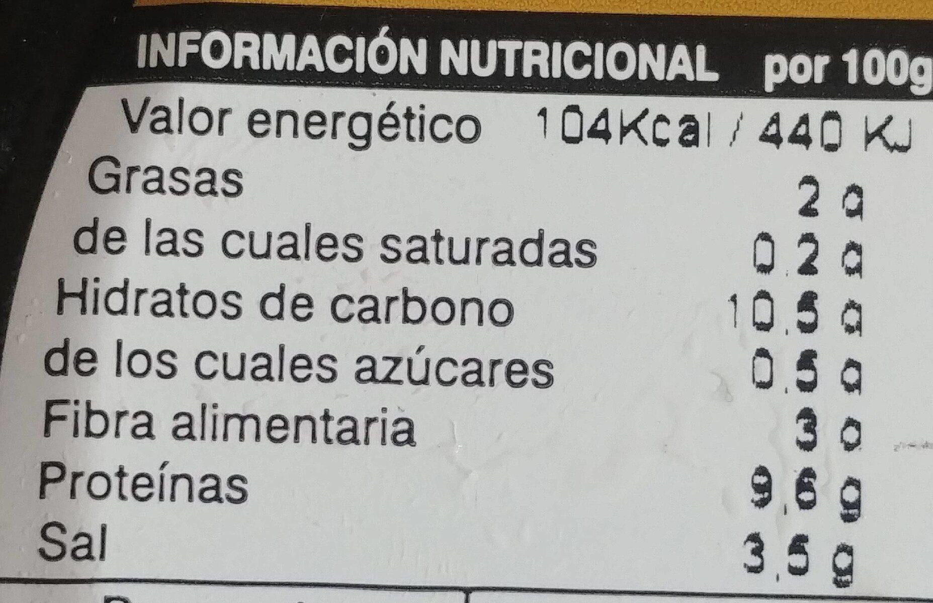 Altramuces - Informations nutritionnelles - fr