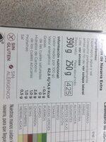 Espárragos Cojonudos - Informació nutricional - es