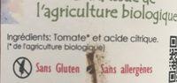 Tomate al naturel - Ingredientes - fr