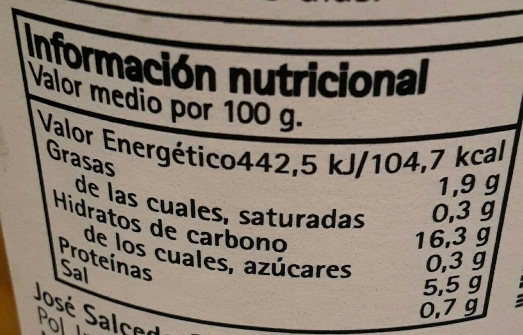 Garbanzos al natural extra - Voedingswaarden - fr