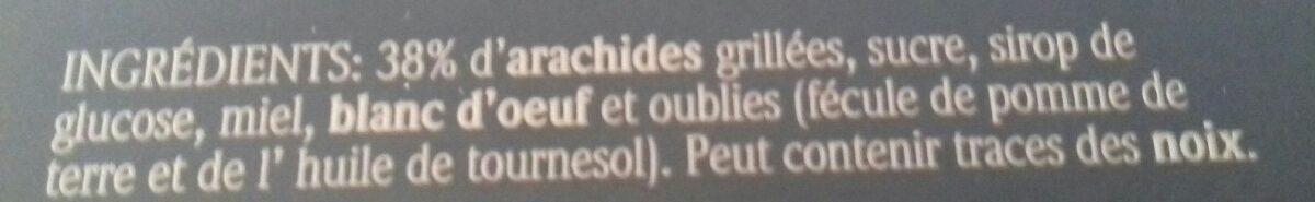 Nouga - Ingrédients - fr