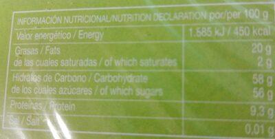 Turrón yema tostada - Informations nutritionnelles