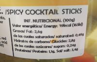 Banderillas picantes - Nutrition facts - es