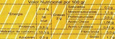 Altramuces encurtidos - Información nutricional - es