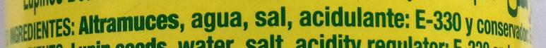 Graines de Lupin - Ingredientes - es