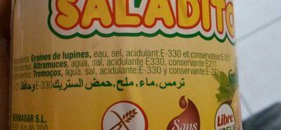 Saladitos Lupin - Ingrediënten