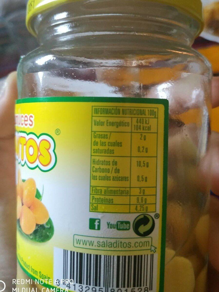 Altramuces - Información nutricional - es