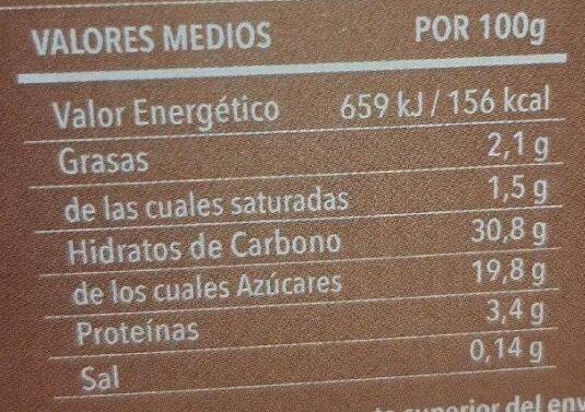 Arroz con leche con caramelo - Nutrition facts - es
