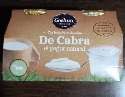 Yogur natural con leche de cabra