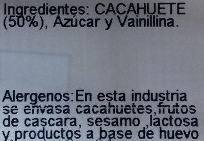 Cacahuetes acaramelados - Ingrediënten - es