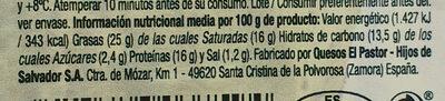 Rulo de queso de cabra con papaya - Informació nutricional - es