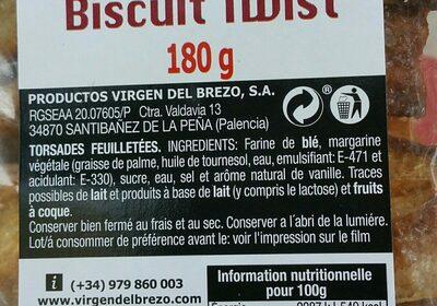 Biscuit twist - Ingredients - fr