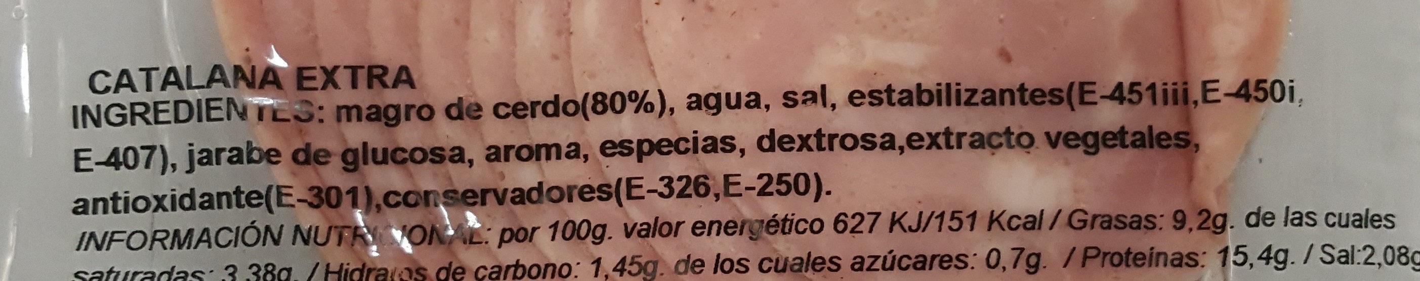 Catalana extra - Ingredientes - es