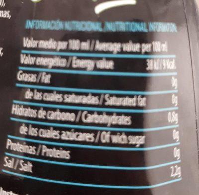 Servivita Sauce Cesar 320ML - Informació nutricional