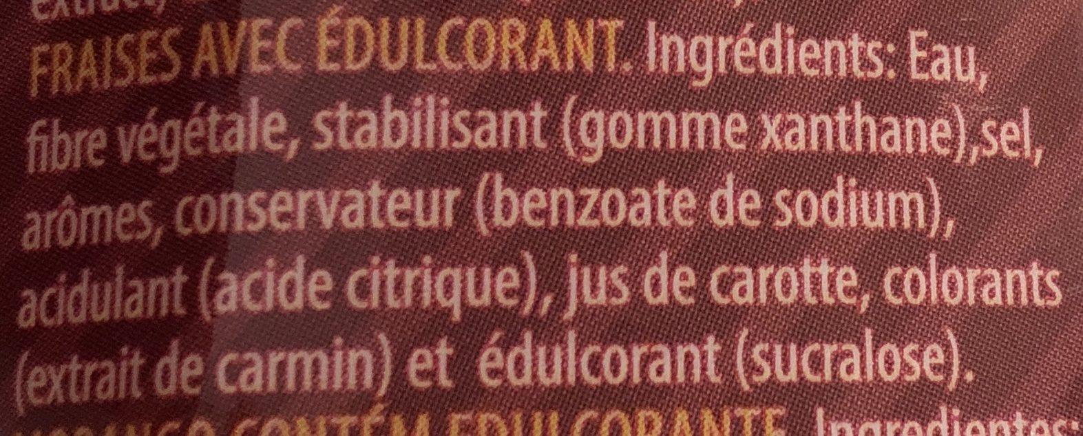 Servivita Sauce Fraise 320ML - Ingrédients - fr