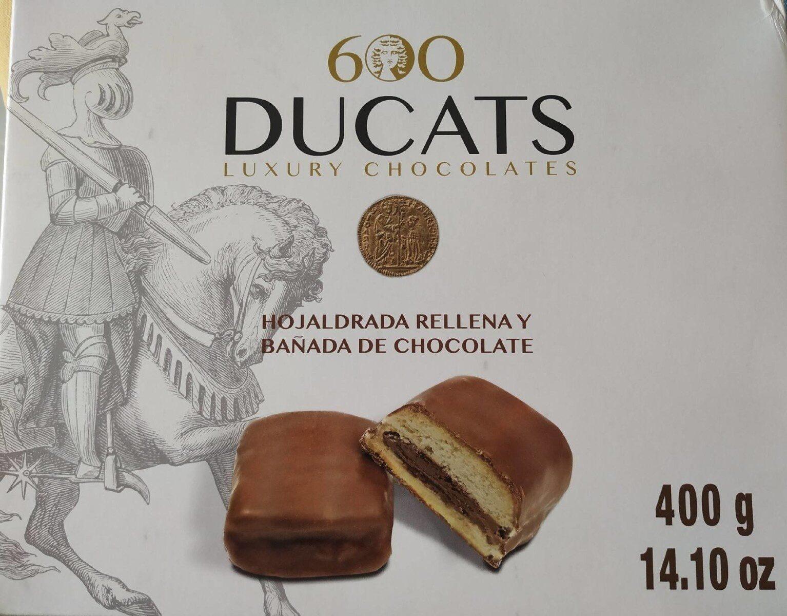 Hojaldrada rellena y bañada de chocolate - Producto