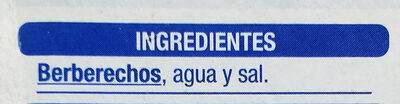 Berberechos - Ingredientes - es