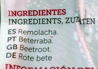 Remolacha cocida y pelada - Ingredients - es