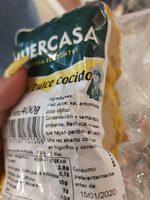 Maiz dulce cocido - Ingrediënten - es