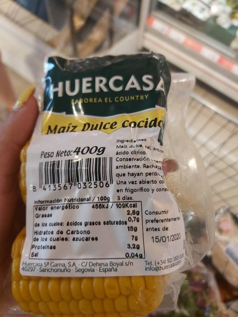 Maiz dulce cocido - Voedingswaarden - es