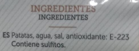 Patata cocida y pelada - Ингредиенты - es