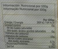 Patata cocida y pelada - Пищевая и энергетическая ценность - es