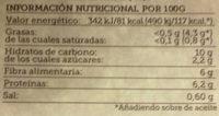 Ensalada mediterránea de lentejas con hortalizas - Información nutricional