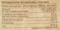 Vinagreta de alubia roja con hortalizas de cultivo - Informations nutritionnelles