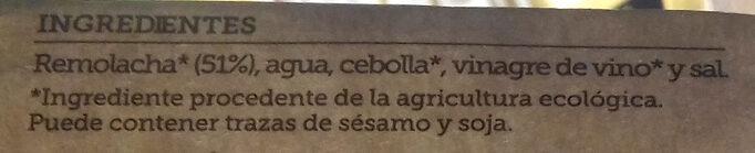 Gazpacho de remolacha - Ingredients - es