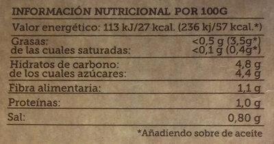 Gazpacho de remolacha - Nutrition facts - es