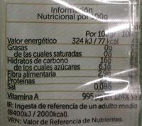 Boniato cocido en dados - Informació nutricional