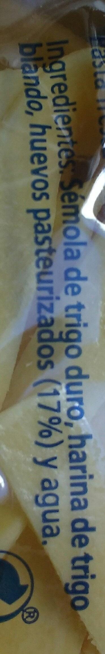 Tagliatelle al huevo - Ingrédients - es