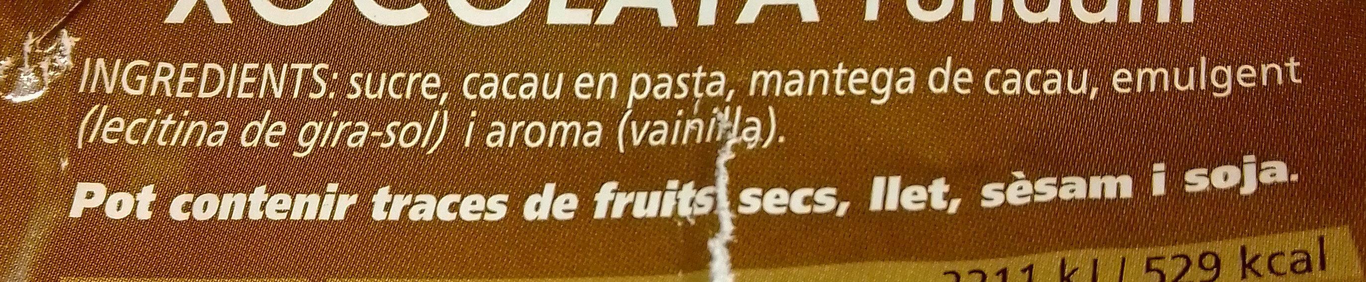 Chocolate fondant 48% - Ingredients - ca