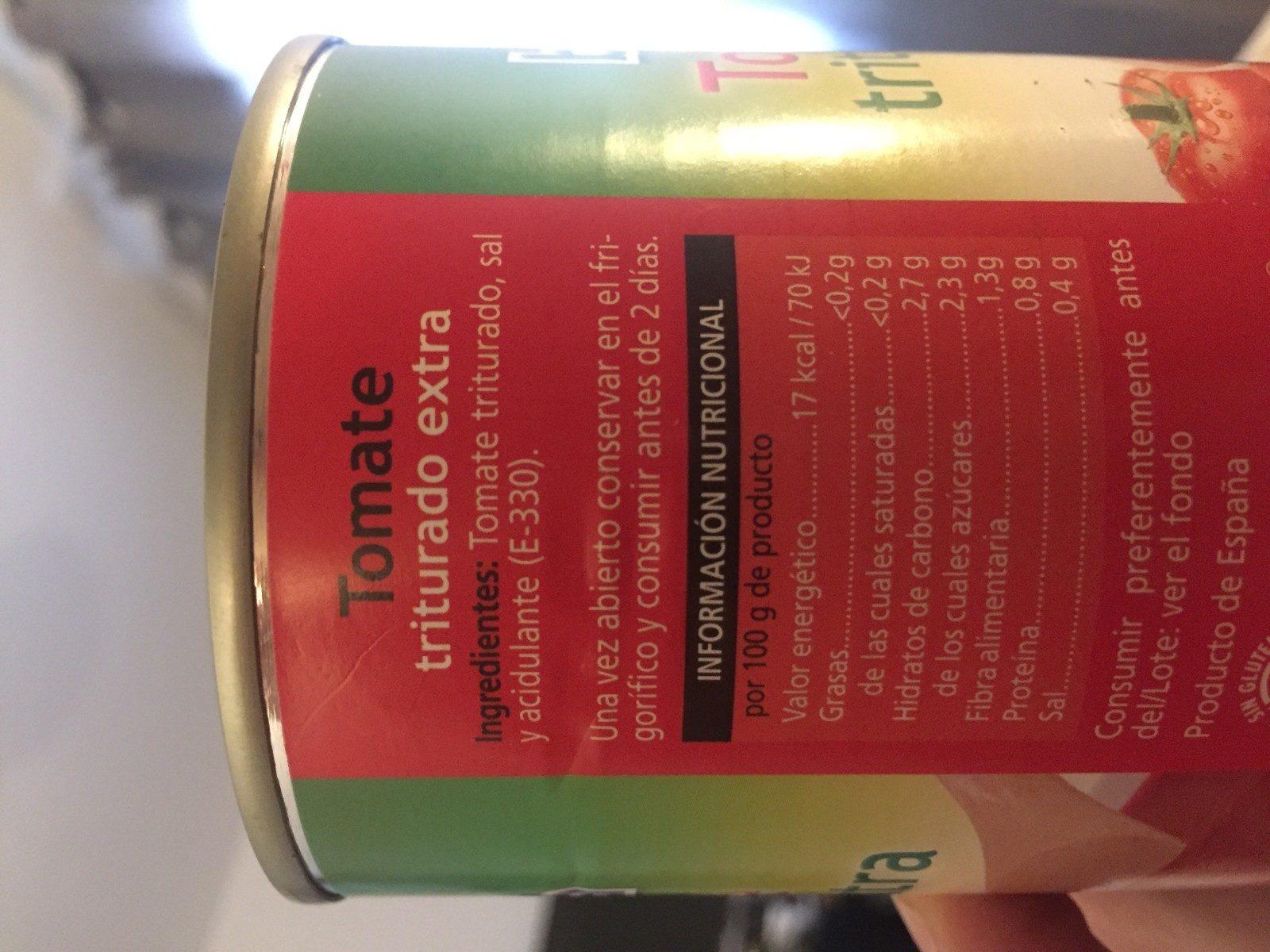 Tomate triturado extra - Ingredientes