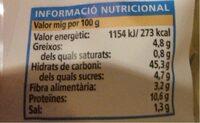 Pan Maxi Burguer - Nutrition facts - ca