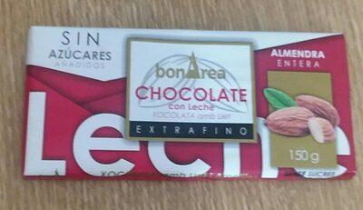 Chocolate con Leche y Almendra (SIN AZÚCAR)