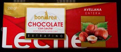 Chocolate con leche y avellanas - Producto