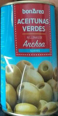Aceituna verdes rellenas de anchoa
