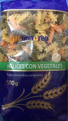 Hélices con vegetales