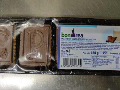 Galletas con tableta de chocolate con leche